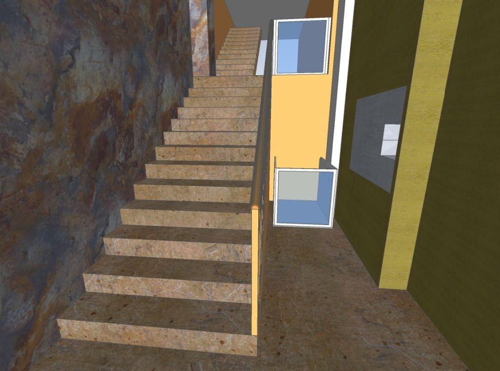 Reforma de vestíbul i entrada a bloc de pisos per a posar plataforma elevadora a Lleida